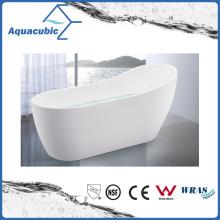 2 Sizes Bathroom White Free-Standing Acrylic Bathtub (AB6830-2)