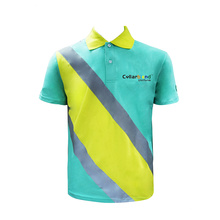 Colarinho rotativo camisa uniforme de entregador
