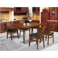 Table de restaurant classique en bois massif et chaise pour 4 personnes (FOH-BCA09)