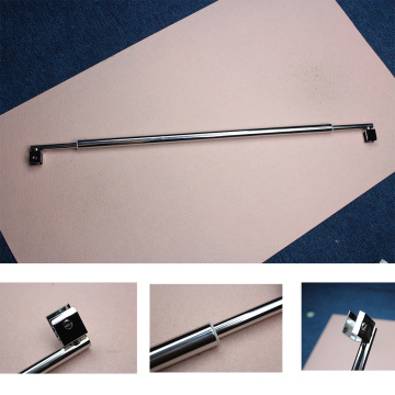 Polished Stainless steel Glass to Glass Shower Bar supportor Glass fixing patching rod