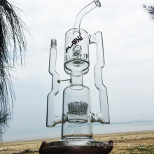 Fantastic Huge Double Recycle Glass Smoking Water Pipes (ES-GB-286)
