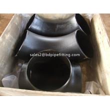 Conexiones de tubería de acero al carbono sin costuras Codo de 90 grados