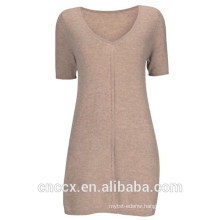 15STC3002 v neck cashmere tunic