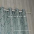 New arrival high taste small leaf design 100% Polyester Linen Like Jacquard Window Curtain