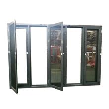 alibaba China market 75 series aluminum glass door with folding open style