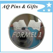 Moedas de prata esterlina com 2d Logo