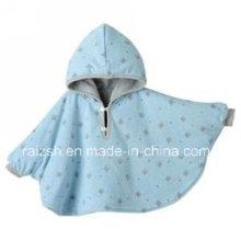 Polar Fleece Baby Poncho / Couverture avec capuche