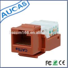 Netzwerk cat5e rj45 UTP Keystone Jack / cat6 8p8c 90 Grad modulare Buchse / Verstärker krone systimax modular Steckverbinder