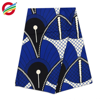 Tissu d'impression 100% polyester africain véritable super ciré