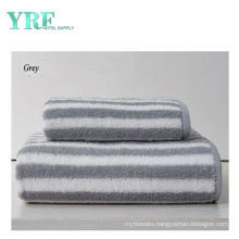 Hotel Supply High Quality Soft with Logo Cotton Gray Striped Hotel Towel