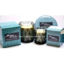 Bougie artisanale parfumée de luxe 340g avec trois mèches