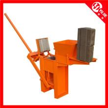 Máquina manual de fabricação de tijolos de argila intertravada Qm1-40