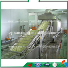 Linha de produção de legumes e frutas