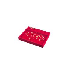 Витрина ювелирных изделий Красный бархатный многоцветный лоток для экспонатов (TY-RPRWX-F)