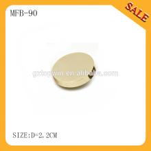 MFB90 Éclairage vierge bouton métallique bout droit pour jeans
