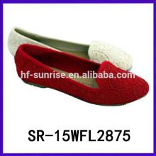 2015 zapatos de fábrica de los zapatos de las mujeres los zapatos más baratos China calza fábrica China