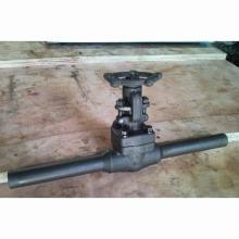 Válvula de porta de aço forjado com mamilo