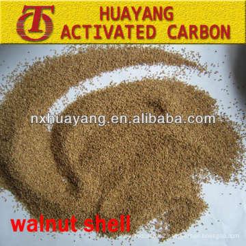 0.5-1.2mm high adsorption walnut shell filter media for sewage treatment