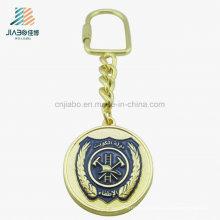 Ouro antigo Keychain do ouro do metal do esmalte de Panit de Emboss do ouro para relativo à promoção