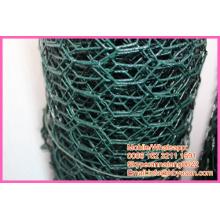 """BWG 18 1/2"""" vinyl coating galvanized hexagonal cage chicken wire mesh netting"""