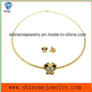 Shineme Fashion Jewelry Vacuum Plating Gold with Stone Stainless Steel Ear Stud (ERS6886)