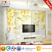 cheap brick wall finish ceramic tile with flower design
