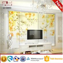 дешевые кирпичная отделка стены керамической плиткой с цветочный дизайн