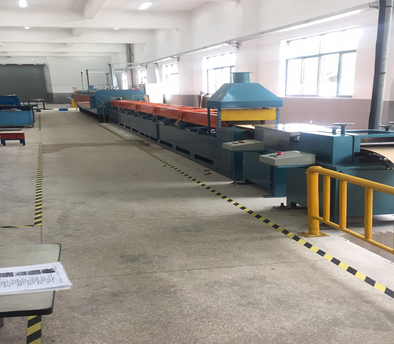 Acceptance of mesh belt quenching furnace