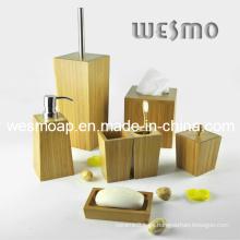 Juego de accesorios de baño de bambú Trapezoid (WBB0621A)