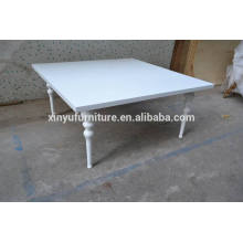 High gloss modern white dining table for events furniture XYN276