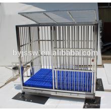 Caixa de gaiola e cão de aço inoxidável de alta qualidade, vendendo mais vendido para venda