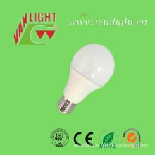 Luz LED de 12W E27/B22 plástico + aluminio, bombillas LED