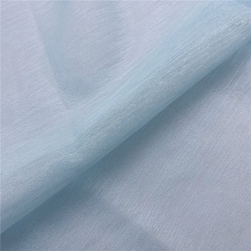 Fancy Light Blue Shimmer Organza Tulle vải