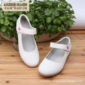 wholesale white leather nurse shoes with wedge heels