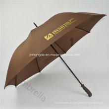 """Kaffee 27 """"Werbung und Werbung Golf Gerader Regenschirm (YSS0115)"""