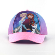 Fashion Sublimation Print Baby Caps with Shinning Brim
