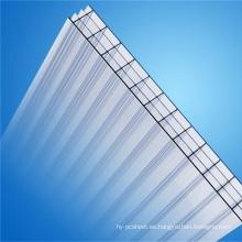 Hoja de múltiples capas de policarbonato Hoja de cuatro hojas de pared Fabricante (OEM Avaliable