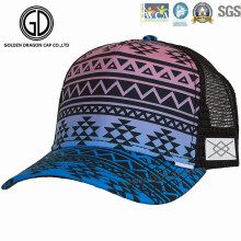 5-Panel Constructed Printing Embroidery Golf Mesh Trucker Cap
