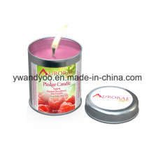 Großhandelsduftende Zinn-Kerzen für Inneneinrichtung