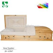 Cercueil de haute qualité fabriqué en Chine avec beau