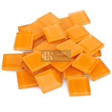 Оранжевая стеклянная плитка для художественного промысла мозаики