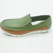 Os melhores sapatos masculinos da moda de venda deslizamento em sapatos de lona de sapatos de condução