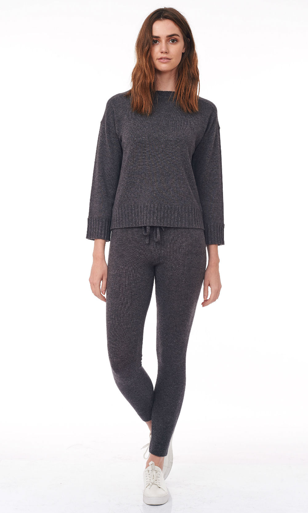 smoke cropped round neck sweater front