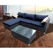 Garden Rattan Sofa Chaise Lounge Chairs Set