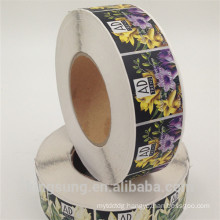 cheap customise shape color printing paper label