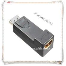 DP diplayport macho para HDMI fêmea Conector adaptador adaptador