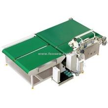 Máquina de borde de cinta de colchón con giro automático