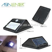 Diseño de moda impermeable LED sensor de movimiento solar LED luz