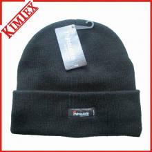 Chapéu de malha Thinsulate de malha acrílica de inverno