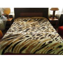 Korean Printing Knitted Raschel Mink Acrylic Blanket